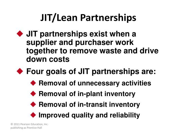 JIT/Lean Partnerships