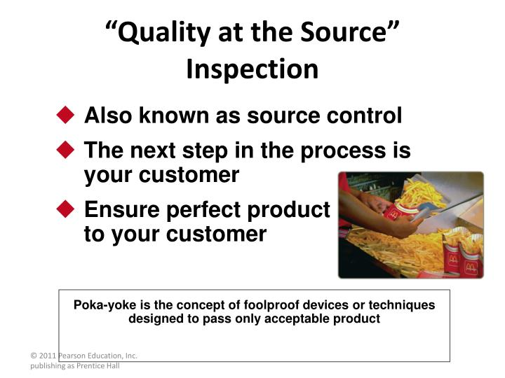 """Quality at the Source"" Inspection"