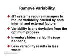 remove variability