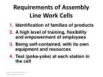 requirements of assembly line work cells