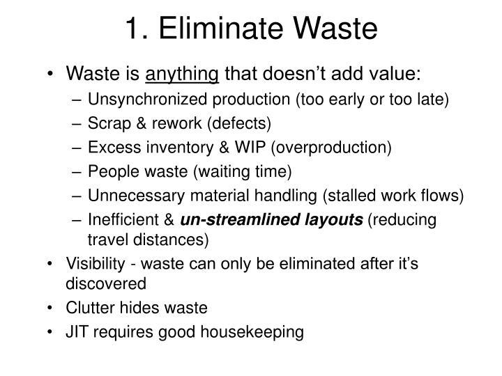 1. Eliminate Waste