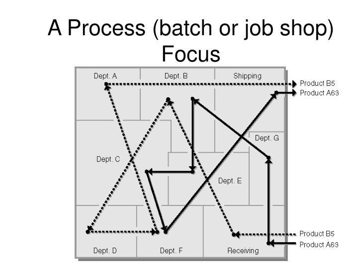A Process (batch or job shop) Focus