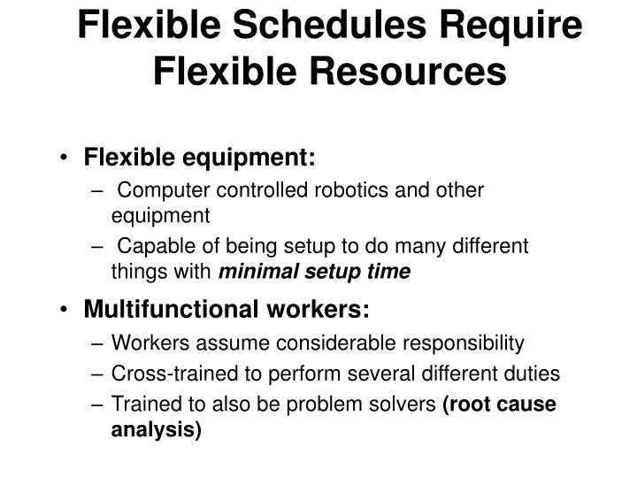 Flexible Schedules Require Flexible Resources