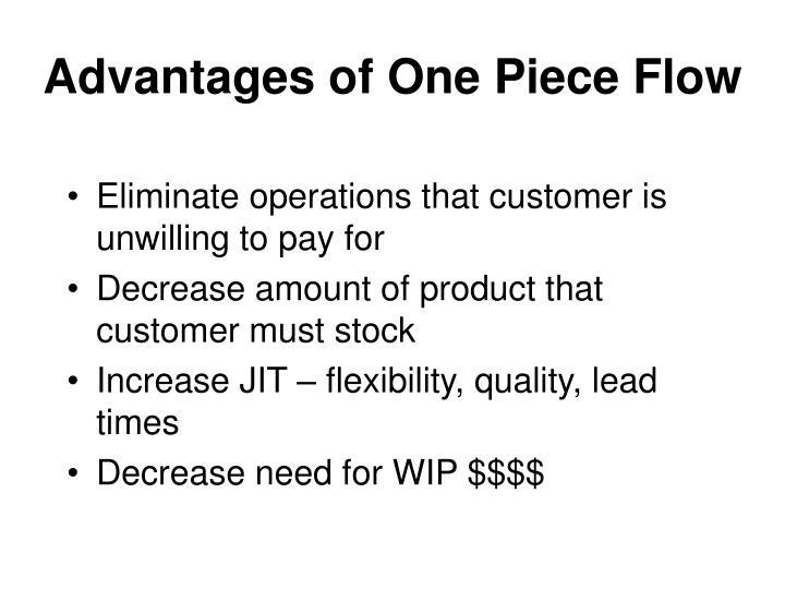 Advantages of One Piece Flow