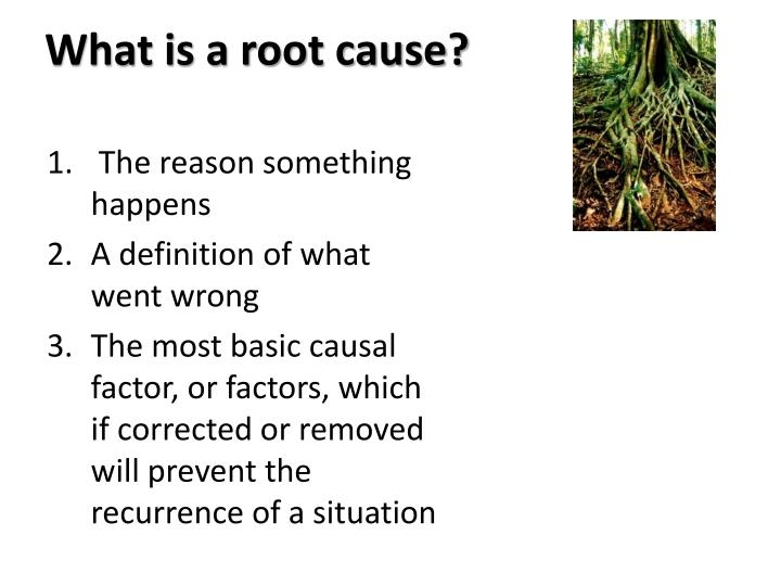 What is a root cause?