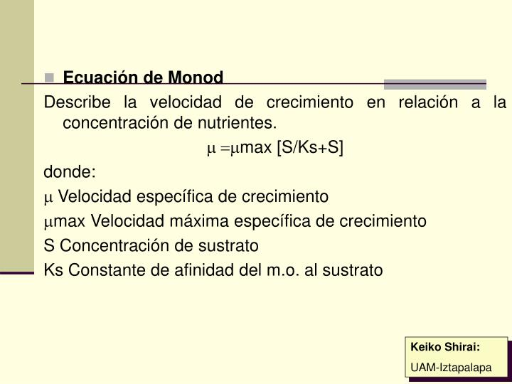 Ecuación de Monod