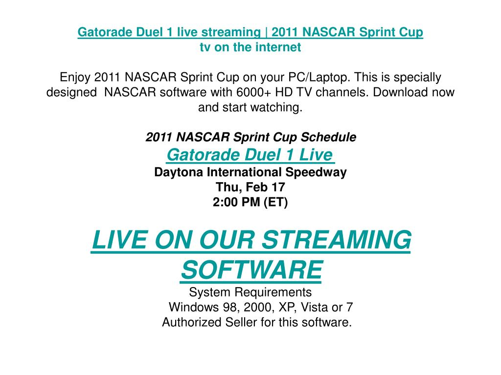 Gatorade Duel 1 live streaming | 2011 NASCAR Sprint Cup