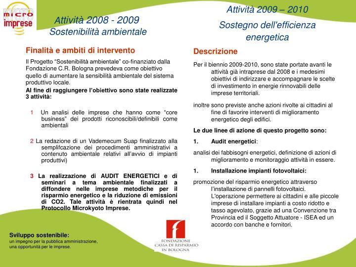 Attività 2009 – 2010