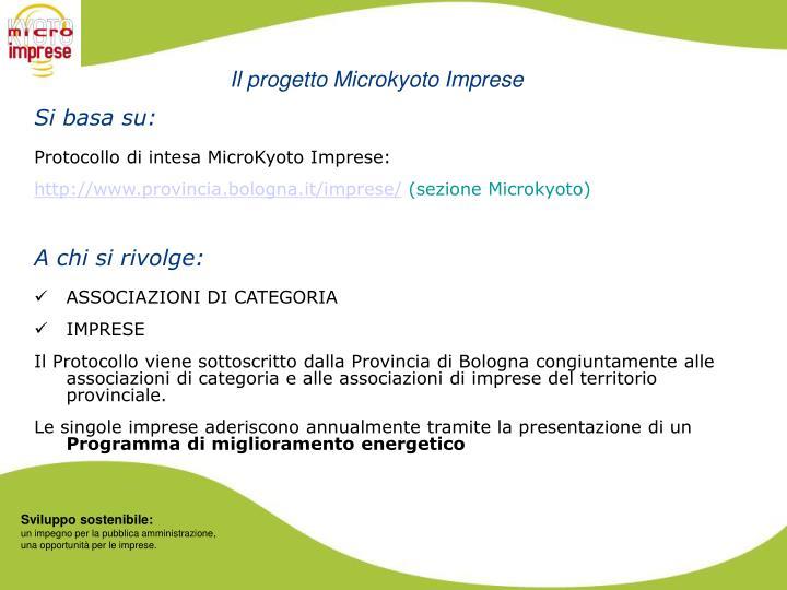 Il progetto Microkyoto Imprese