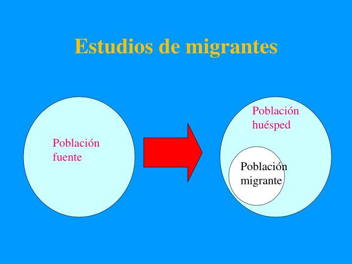 Estudios de migrantes