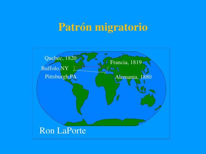 Patrón migratorio