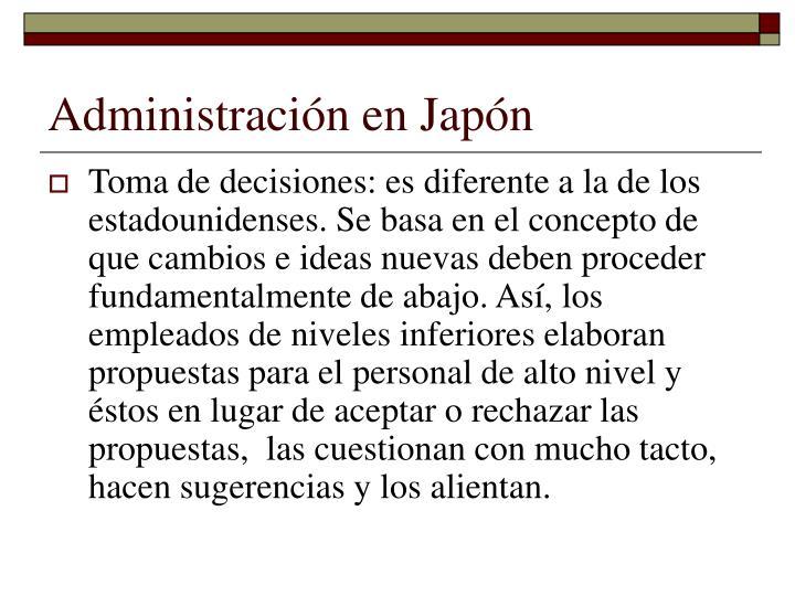 Administración en Japón