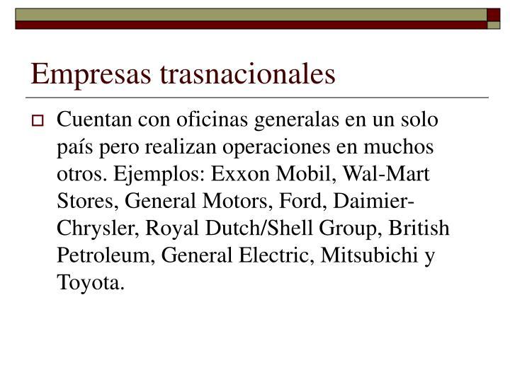 Empresas trasnacionales