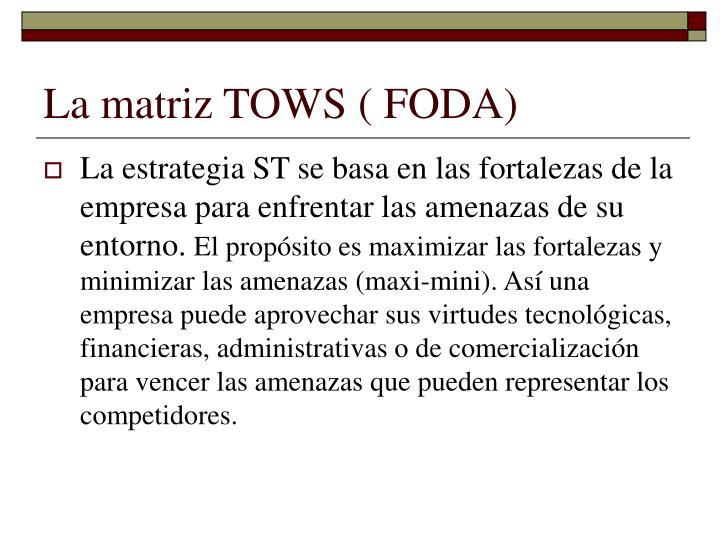 La matriz TOWS ( FODA)