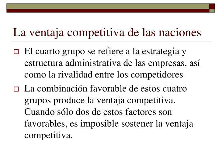 La ventaja competitiva de las naciones