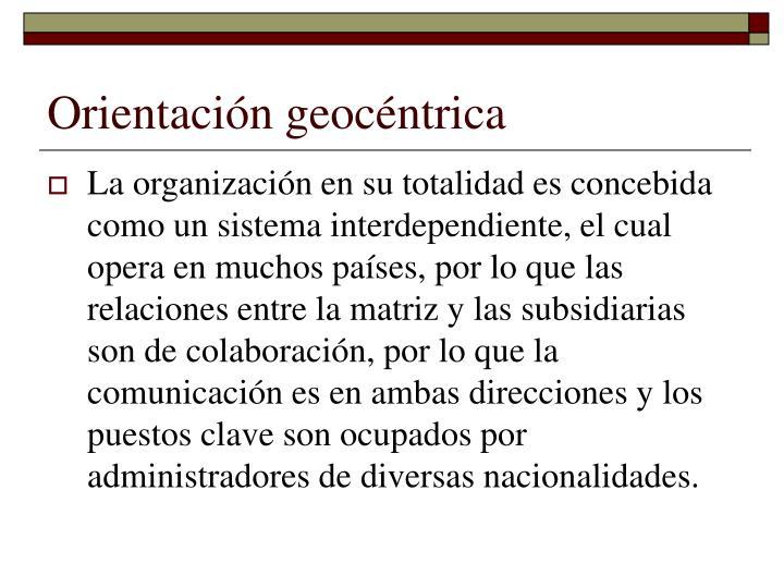 Orientación geocéntrica