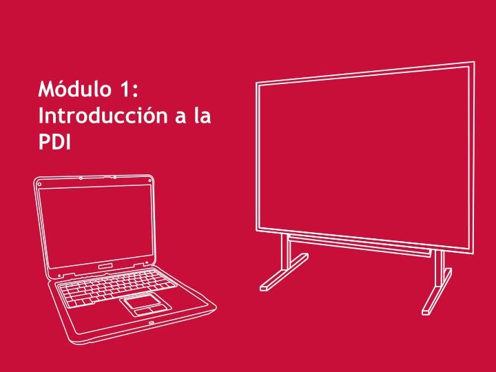 Módulo 1: Introducción a la PDI