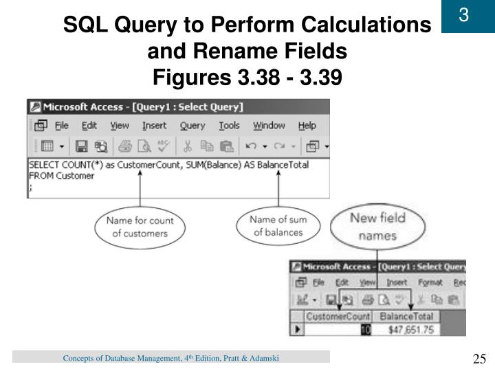 SQL Query to Perform Calculations and Rename Fields