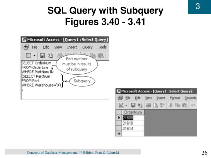 SQL Query with Subquery