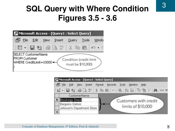 SQL Query with Where Condition