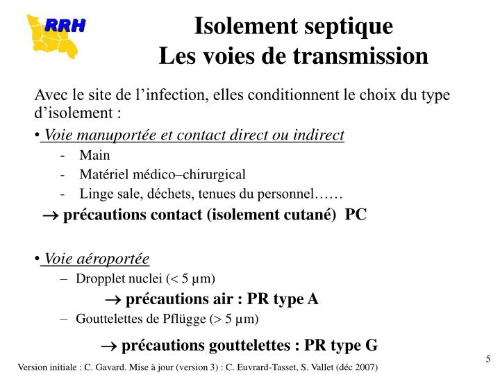 Isolement septique