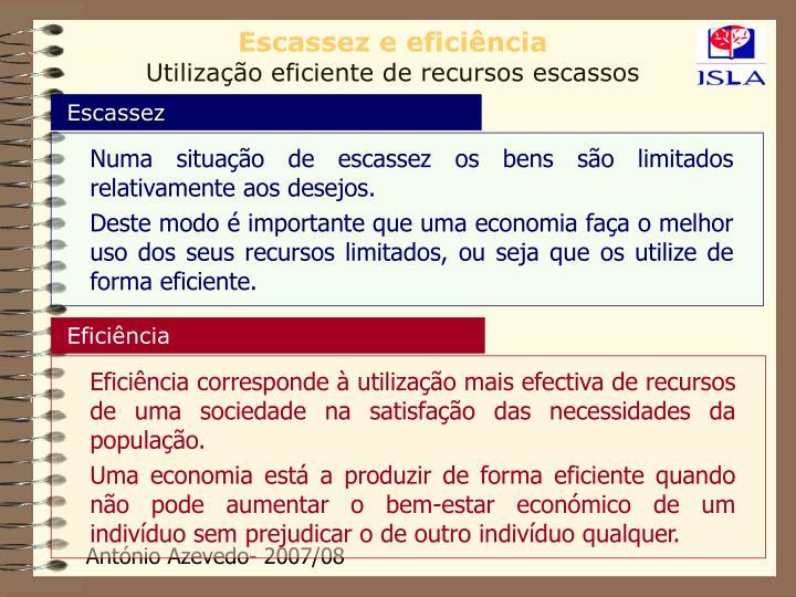 Escassez e eficiência