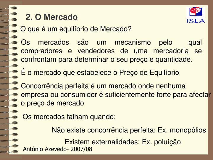2. O Mercado