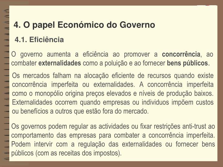 4. O papel Económico do Governo