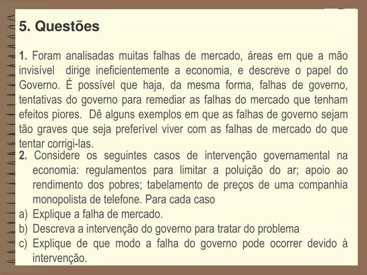 5. Questões