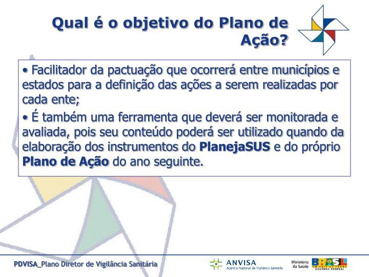Qual é o objetivo do Plano de Ação?
