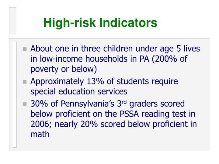 High-risk Indicators