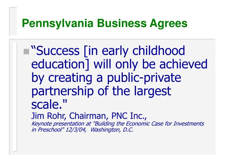 Pennsylvania Business Agrees