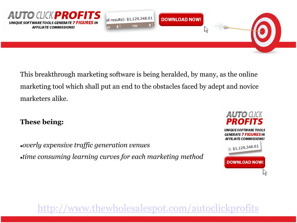 This breakthrough marketing software is being heralded, by many, as the online marketing tool which shall put an end to the obstacles faced by adept and novice marketers alike.