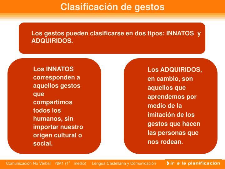 Clasificación de gestos
