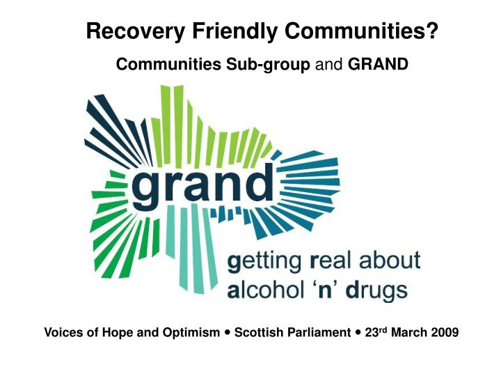 alcohol recovery glasgow
