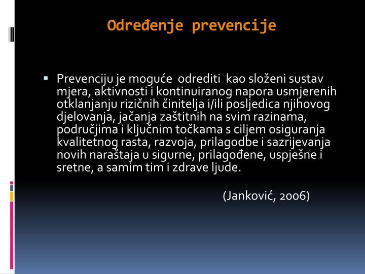 Određenje prevencije