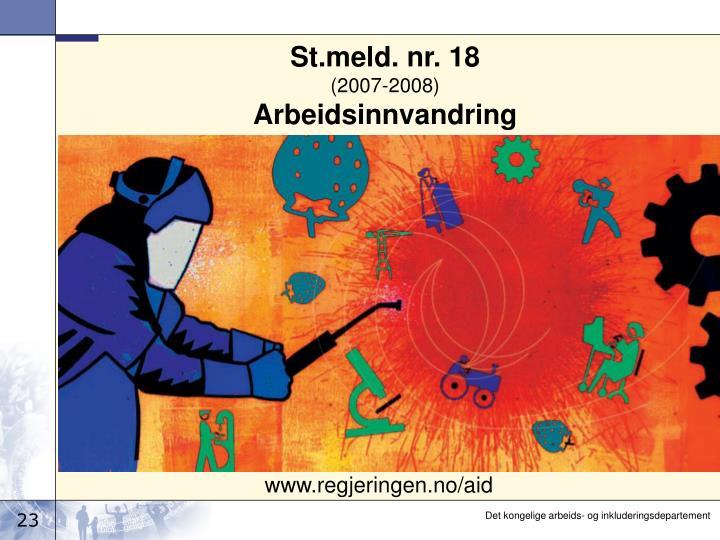 St.meld. nr. 18