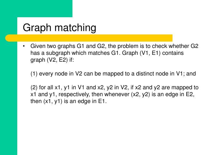 Graph matching