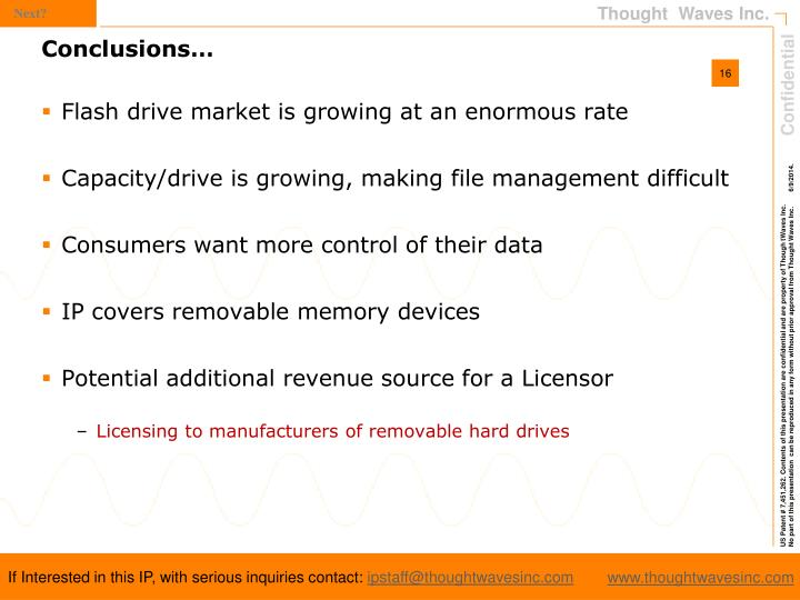 Flash drive market is growing at an enormous rate