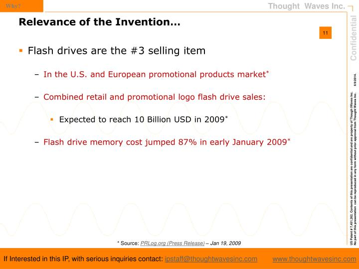 Flash drives are the #3 selling item