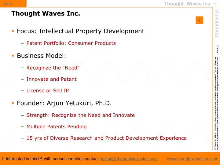 Focus: Intellectual Property Development