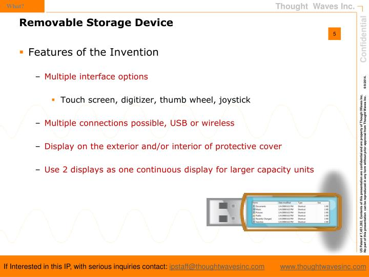 Features of the Invention