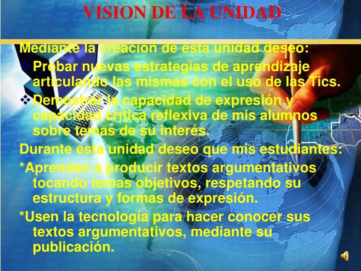 VISION DE LA UNIDAD