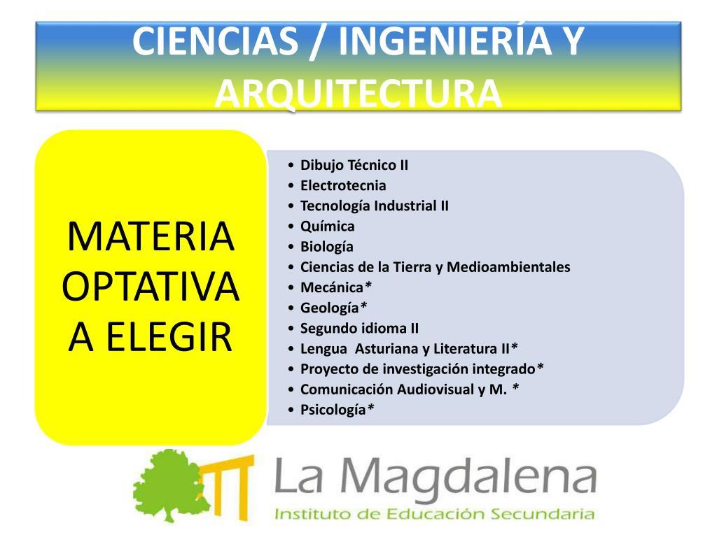 CIENCIAS / INGENIERÍA Y ARQUITECTURA