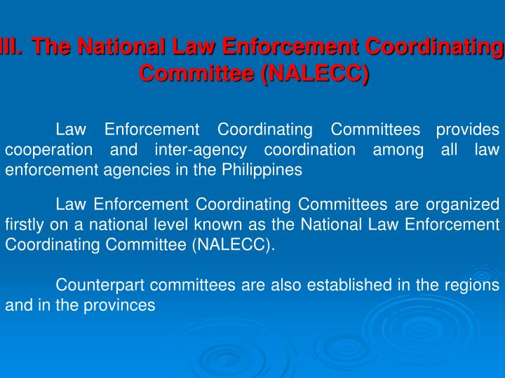 The National Law Enforcement Coordinating