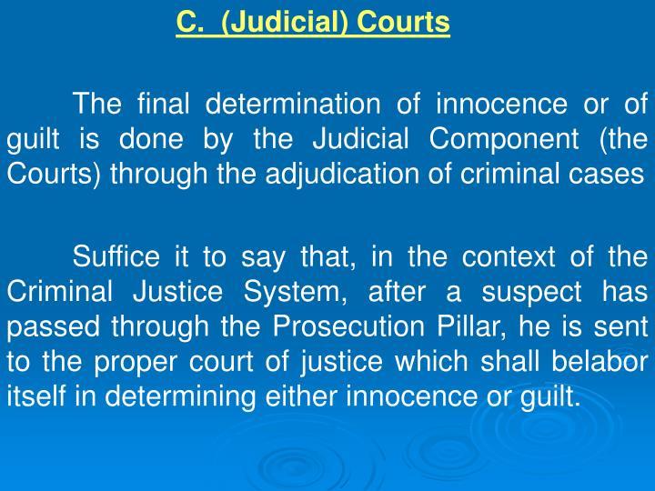C.  (Judicial) Courts