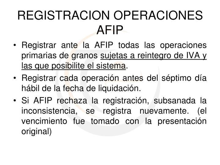 Registrar ante la AFIP todas las operaciones primarias de granos