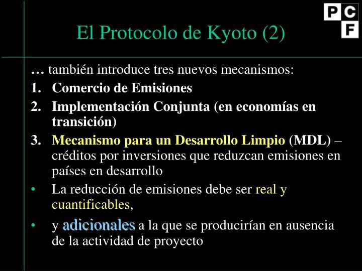 El Protocolo de Kyoto (2)