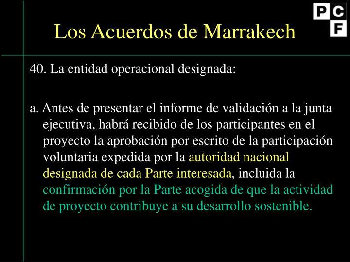 Los Acuerdos de Marrakech