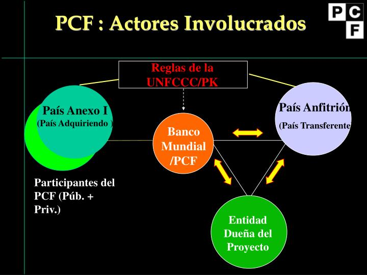 PCF : Actores Involucrados